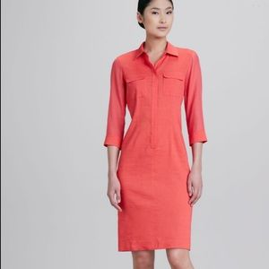 Elie Tahari Austin Placket Skirt Dress